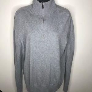 Banana Republic cotton cashmere half zip sweater